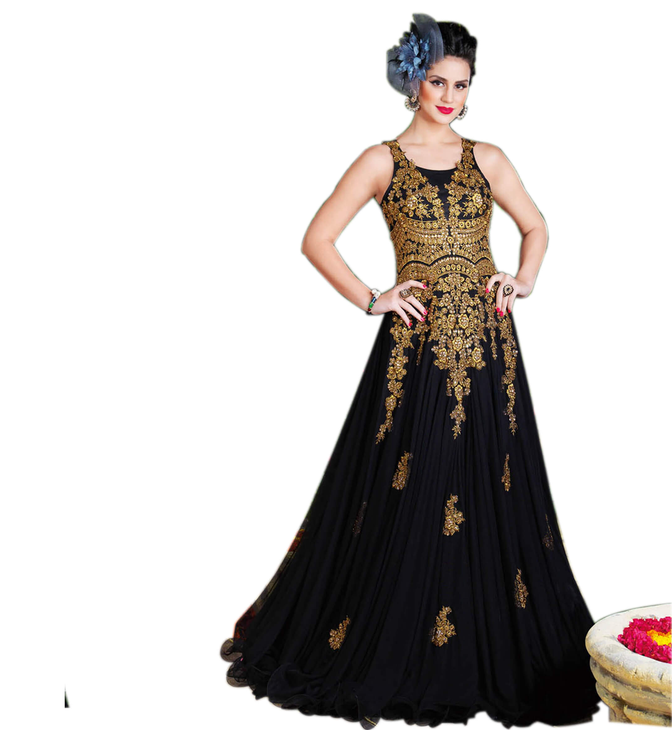 London Beauty Indo-Western Black Gown - London BeautyLondon Beauty